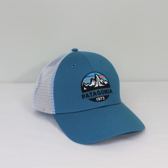 New Patagonia Blue White Baseball Hat Men Women 8a6bb744e5
